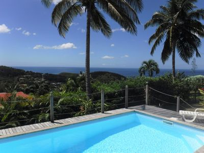 Photo for Caribbean Sea View Villa with Pool, Near Cousteau Reserve
