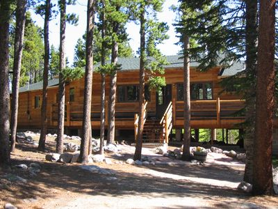 Photo for Shadow of Longs Peak - Seclusion & Tree Top Mountain Views on 15 Acres!