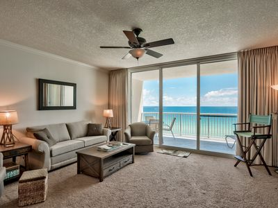 Photo for Ocean Front Romantic Getaway - Lower Floor - Free Beach Chair Service!