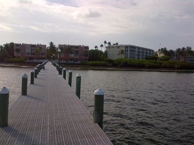 condo dock looking back towards complex