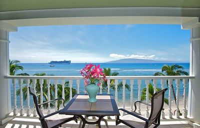 Photo for ~ Magnificent Ocean Front Views From our Romantic Lahaina Shores Studio ~