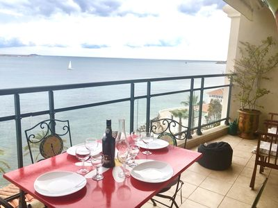 Photo for Bandol - APPT 2 Rooms, Face beaches of Sand - Penthouse with Pool.