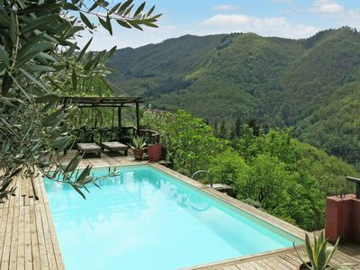 Photo for Rustic Tuscan stone house with private pool with view and large garden; Relax