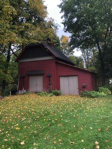 1 acre of property with antique barn