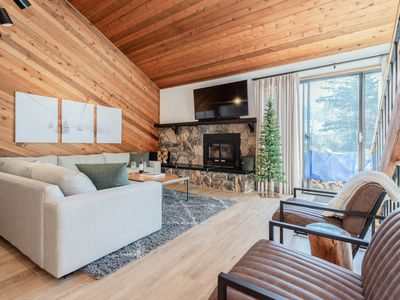 Photo for Centrally Located, Renovated Townhouse with Alpine Decor and Shared Hot Tub