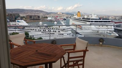 Photo for Luxury design Penthouse with unlimited Piraeus cruise port views