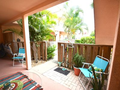 Photo for Quiet Retreat w/Private Patio, Steps to the Sand
