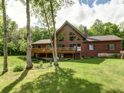 Photo for Secluded, waterfront, cabin-style home w/ great views - dock & outdoor fire pit