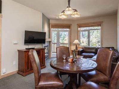 Photo for Upgraded ski-in, ski-out condo with mountain views and heated pool access