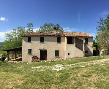 Photo for Farmhouse nestled in the hills, 1km from Pergola, panoramic, wide open space