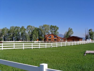 Photo for Star Valley All Year Vacation Rental -Custom Log Home-Magnificent Mountain Views