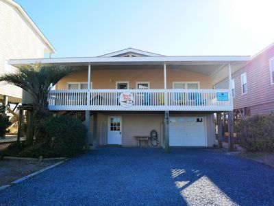 """Photo for Have the time of your life at """"Beach Nuts""""!  This 5 Bedroom, 3 Bathroom Beautiful Oceanfront Home offers Amazing Views Of Holden Beach & Sleeps 14!"""