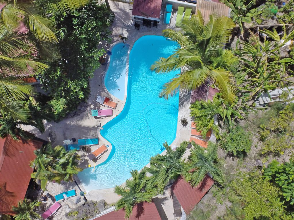 Location Vacances Villa Sainte Anne: Vue De Drone Au Bord De La Jungle