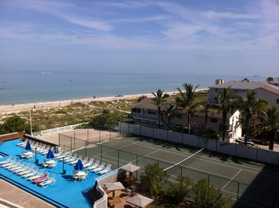 VIEW FROM THE BALCONY - SEE ALL THE WAY TO CLEARWATER BEACH