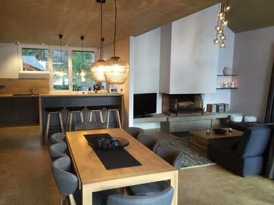 Photo for Luxury ski-in ski-out apartment, 8 pers, fireplace at Les Carroz d'Arâches