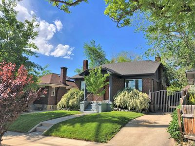 Located in a suburban Salt Lake neighborhood, surrounded by other single-family homes