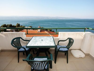 Photo for One bedroom apartment with terrace and sea view Balića Rat, Omiš (A-4868-a)