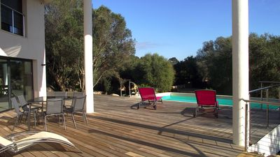 Photo for Modern family standing villa with pool 10 minutes from the beaches