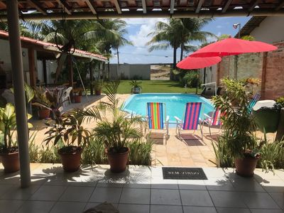 Photo for House in Serrambi, with pool, barbecue and less than 30 meters from the beach