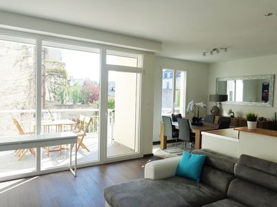 Photo for Cathedral area, modern flat, 2 rooms, 2 bathrooms, terrace and parking