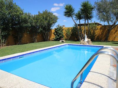 Photo for Rustic, well-kept country house with private pool in a beautiful garden, several terraces and barbecue, free WIFI - ideal for family holidays - Casa Lazambra -