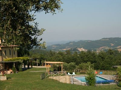 Photo for Tranquil location, villa with impressive views, heated pool, wifi, close to town