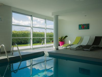 Photo for ☀Villa Enora Indoor pool heated all year round enclosed garden jacuzzi jacuzzi