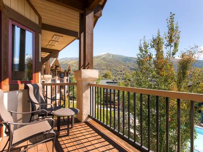 Photo for Top floor Condo w/Private Balcony, Amazing Summer Views & Onsite Pool!