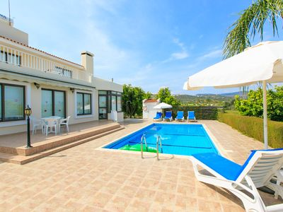 Photo for Villa Bougainvillea: Large Private Pool, Sea Views, A/C, WiFi, Eco-Friendly
