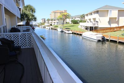 What makes this unit special are the views from your deck overlooking the canal