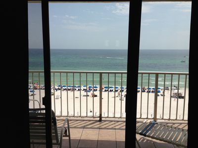 Photo for Spectacular View on the beach! Summit Condo  2 pools 3 Hot Tubs Gym Balcony!