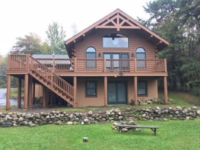 Photo for Rustic Lakefront Cabin on 2 Acres of Property!