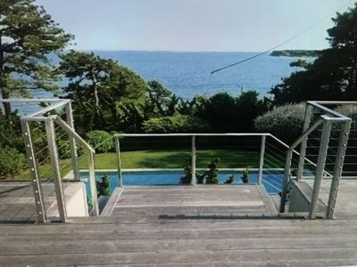 Photo for Bayfront 4 bedrooms family home. Panoramic sea view from all rooms