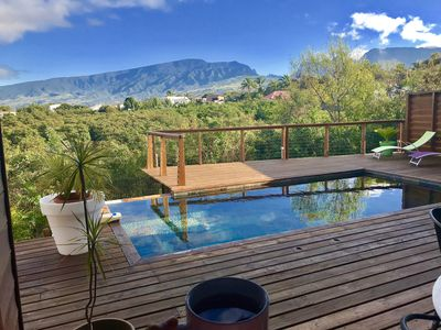 Photo for LUXURY VILLA in wood with beautiful mountain view near St Pierre