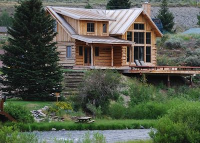 View of the house from across the Madison River.