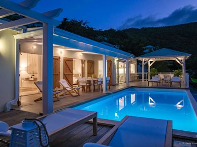 Villa LEMON -In a green setting at the entrance of Orient Bay