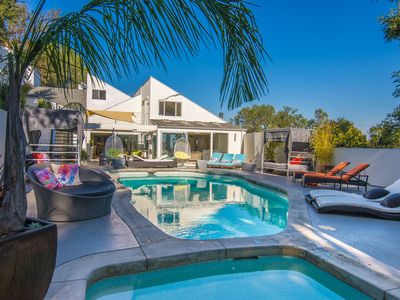 Photo for Beverly Hills Modern 6 bedroom Pool Estate w view, Secluded on a Private Lane