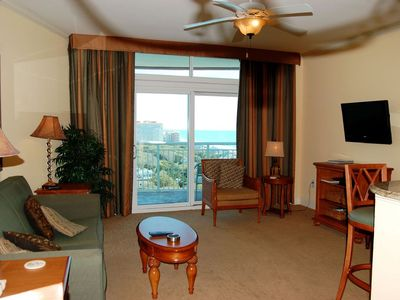 Magnificent ocean views abound in beautiful condo with indoor/outdoor pools and lazy river!