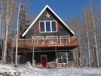 Photo for Fresh Snow! Cabin w/ Lots of Amenities (Sauna & Jacuzzi tub) in Gorgeous Setting
