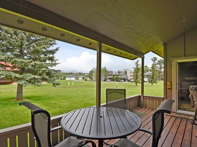 Photo for Dog-friendly condo w/covered back porch - lakes, golf, ski nearby
