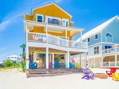 Photo for Waterfront Home in Gulf Shores with Wrap-Around Porch, Fire Pit, And Private Beach