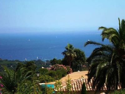 Photo for *** Sea view ! MAZET 3P with terrace, garden, large swimming pool in res. closed