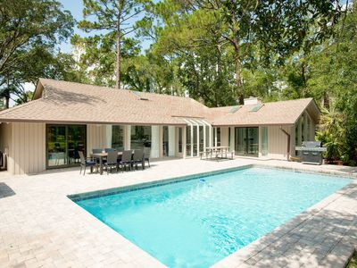 Photo for Luxurious All-Suite Sea Pines Home w/ Pool & Hot Tub in Backyard Paradise