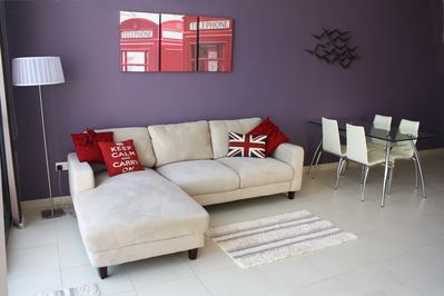 Comfortable home from home lounge