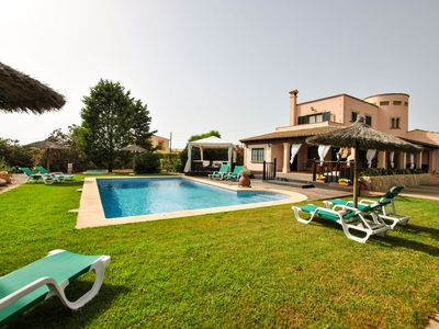 Photo for Charming villa with private pool and chillout near the beautiful Es Trenc beach.