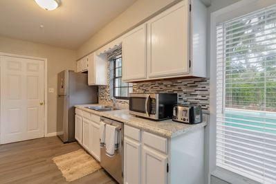 Updated kitchen and new appliances.