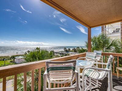 Photo for Updated Oceanfront Family Friendly Condo- Beautiful Views! Steps to the Beach