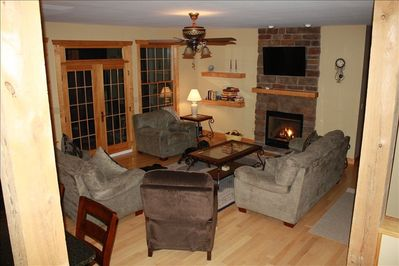The family room, lot's of room to stay warm and relax