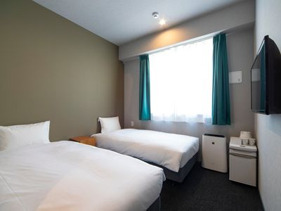 Photo for Private Twin bed room with shower and toilet / Osaka city Osaka