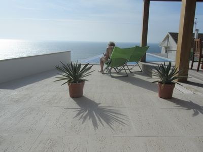Photo for Luxury villa on the coast with private pool, terrace, sea view. Near Nazaré